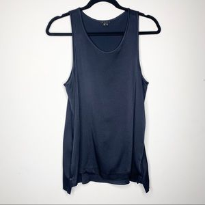 Theory Lindina Tank Top with Snap Sides High Low